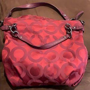 Burgundy Authentic Coach Bag